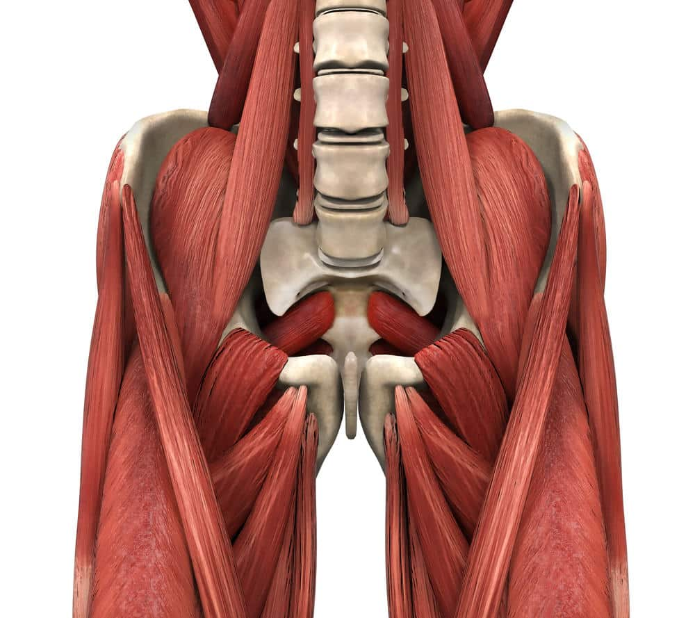tight hip flexors protruding lower abs