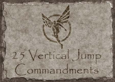 25 vertical jump commandments