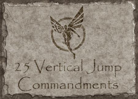 25 vertical jump commandments