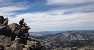 Reflecting on the Mt Tallac summit
