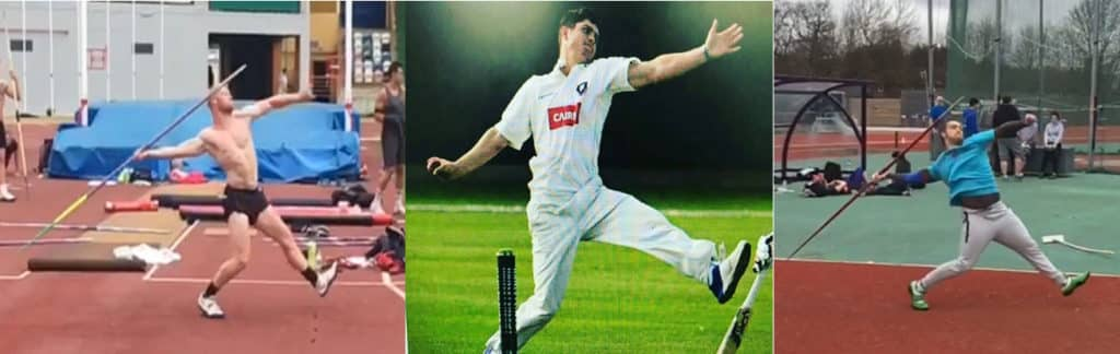 Bowler and Javelin throw similarities